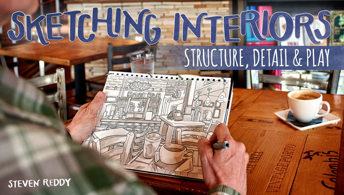 Sketching Interiors: Structure, Detail & Play