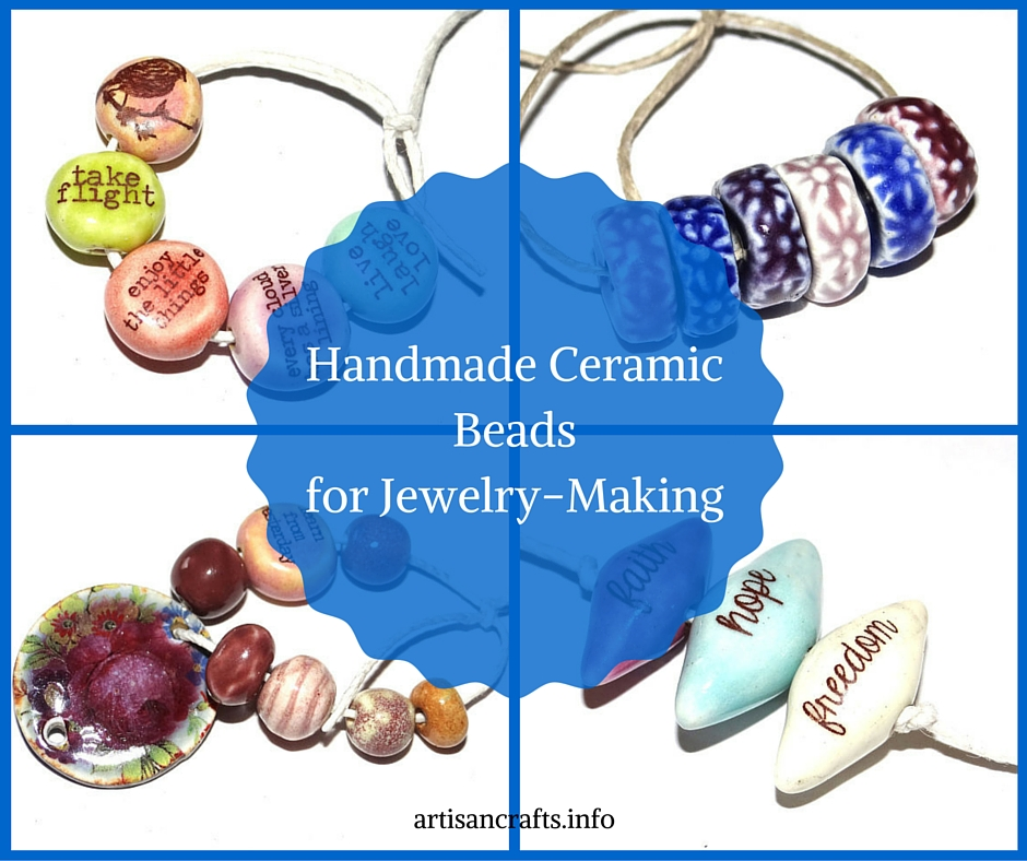 Handmade Ceramic Beads for Jewelry-Making