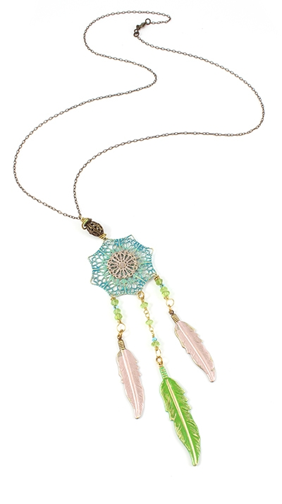 N1073 Vintaj Spring Necklace