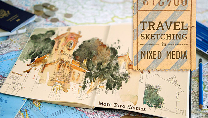 Travel Sketching in Mixed Media