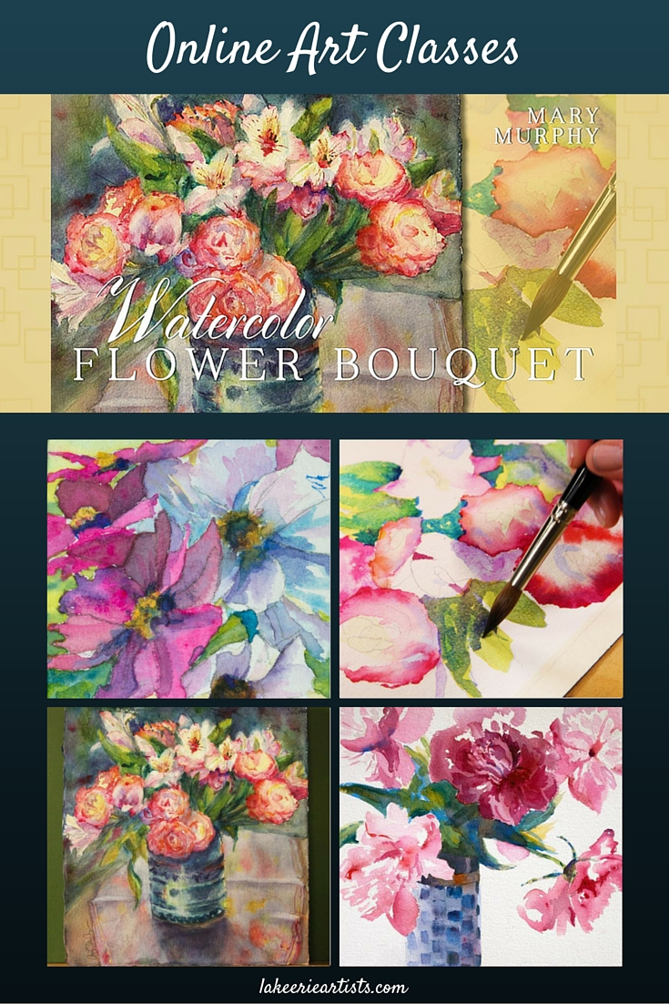 Learn to Paint a Watercolor Flower Bouquet