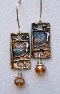 Precious metal clay earrings