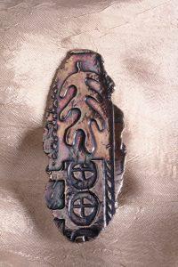 Paula Atwell Fine Silver Leaf Brooch